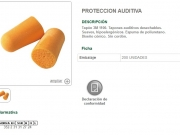 Tapones desechables proteccion auditiva. .jpg