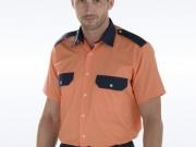 Camisa bicolor naranja marino MC.jpg