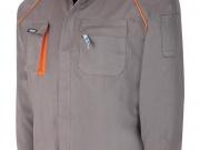 Cazadora multibolsillos algodon 270 gramos gris-naranja Mc.jpg