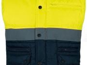 Chaleco acolchado alta visibilidad marino con amarillo My895.jpg
