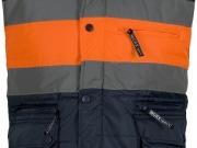 Chaleco acolchado alta visibilidad marino con franja naranja My895.jpg