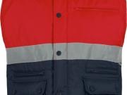 Chaleco acolchado alta visibilidad marino con rojo My895.jpg