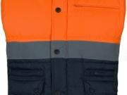 Chaleco acolchado alta visibilidad naranja con marino My894.jpg