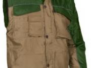 Cazadora acolchada mangas desmontables verde y marron.jpg