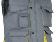 Chaleco acolchado bicolor gris amarillo.jpg