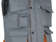 Chaleco acolchado bicolor gris naranja.jpg