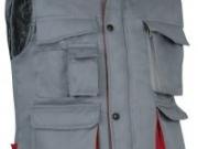 Chaleco acolchado bicolor gris rojo.jpg
