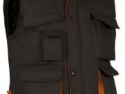 Chaleco acolchado bicolor negro naranja.jpg