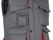 Chaleco bicolor acolchado multibolsillos gris rojo 2.jpg
