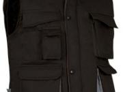 Chaleco bicolor acolchado multibolsillos negro gris.jpg