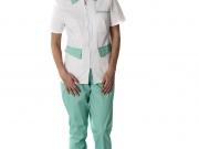 Conjunto cuello camisero con cierre cremallera blanco y turquesa.jpg