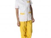 Conjunto cuello pico cierre cremallera blanco y amarillo.jpg