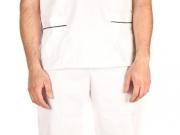 Conjunto unisex cuello pico blanco vivos cordon (3).jpg