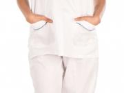 Conjunto unisex cuello pico blanco vivos cordon (4).jpg