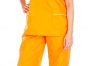 Conjunto unisex cuello pico naranja vivos cordon (2).jpg