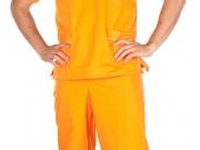 Conjunto unisex cuello pico naranja vivos cordon.jpg