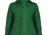 Parka mujer acolchada impermeable verde.jpg