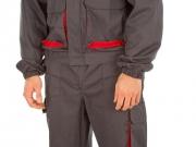 Conjunto pantalon y cazadora fabricacion especial gris y rojo.jpg