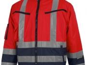 Cazadora acolchada e impermeable alta visibilidad rojo con marino MY123.jpg