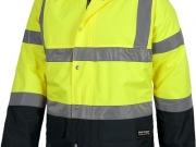 Parka acolchada e impermeable alta visibilidad amarillo con navy MY123.jpg