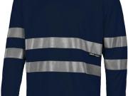 Camiseta manga larga marino con bandas reflectantes My84.jpg