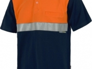 Polo algodon bicolor naranja con banda reflectante.jpg