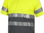 Polo manga corta alta visibilidad gris con amarillo My 4841.jpg