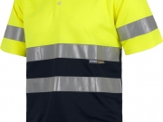 Polo manga corta alta visibilidad marino con amarillo My 484.jpg