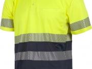 Polo manga corta alta visibilidad marino con amarillo My 4841.jpg