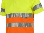 Polo manga corta alta visibilidad naranja con amarillo My 4841.jpg