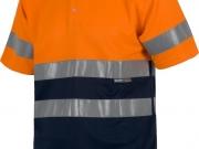 Polo manga corta alta visibilidad naranja con marino My 4841 (2).jpg