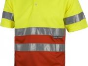 Polo manga corta alta visibilidad rojo con amarillo My 4841.jpg