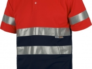Polo manga corta alta visibilidad rojo con marino My 4841.jpg