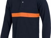 Polo bicolor manga larga marino con naranja MY4325.jpg