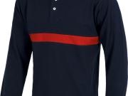 Polo bicolor manga larga marino con rojo  MY4325.jpg