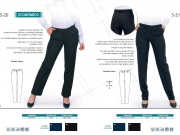 Pantalon de traje mujer poliester o poliester con spandex Pomares.jpg