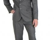 traje de caballero gris