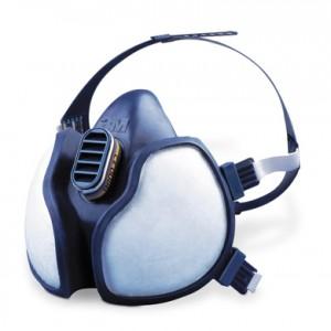 Máscara autofiltrante 3M Serie 4000 para gases y vapores. Confecciones Pomares