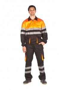 Pantalon de trabajo y cazadora de trabajo alta visibilidad