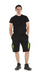 pantalon corto bermuda de trabajo multibolsillos