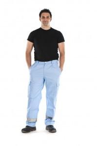 pantalon de trabajo multibolsillos banda reflectante