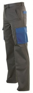 Pantalon Pantalon esp.bicolor gris_azul Ropa trabajo - pantalon de trabajo multibolsillos cpomares