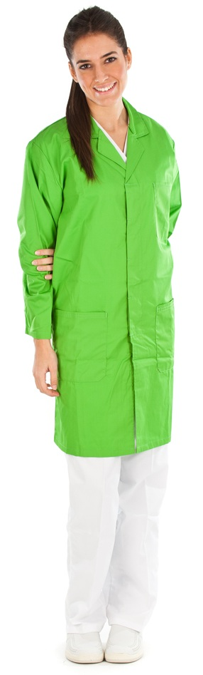 Bata unisex color pistacho conjunto sanitario, ropa laboral, ropa de trabajo, clinica, farmacia, estetica