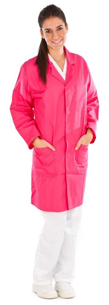 Bata unisex color rosa conjunto sanitario, ropa laboral, ropa de trabajo, clinica, farmacia, estetica