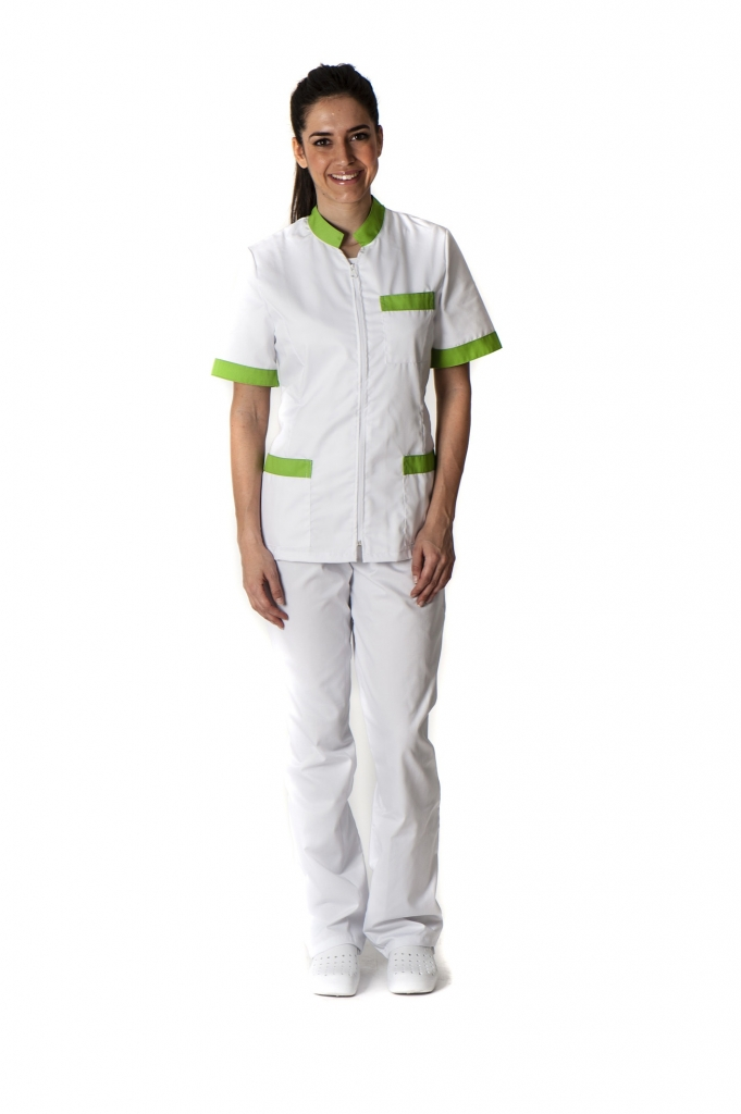Conjunto cuello mao conjunto sanitario, ropa laboral, ropa de trabajo, clinica, farmacia, estetica