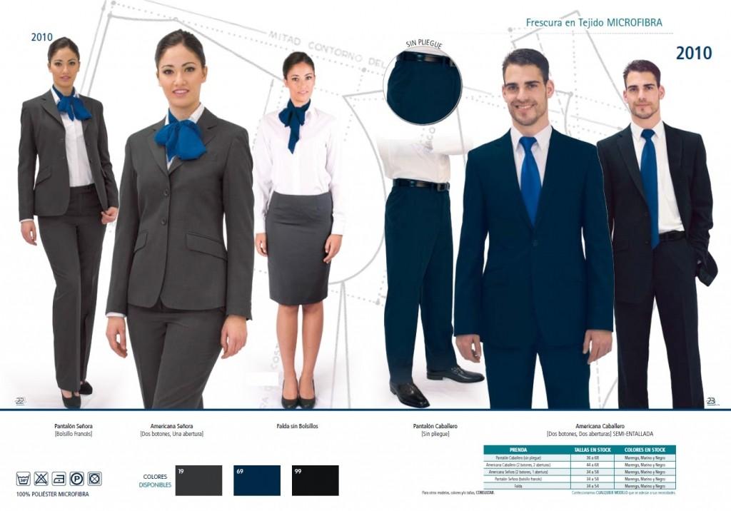 Traje de chaqueta. Americana y pantalon o falda en 100% poliester microfibra