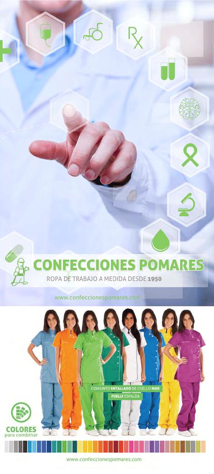 Portada catálogo 2016 Confecciones POMARES. Sector SANITARIO Y LIMPIEZAS 2016